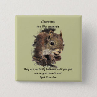 Funny Quit Smoking Motivational Quote 15 Cm Square Badge