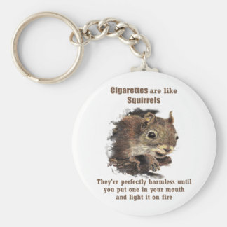 Funny Quit Smoking Motivational Quote Squirrel Key Ring