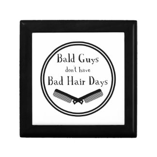 Funny Quote - Bald Guys Don't Get Bad Hair Days Gift Box