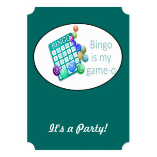 Funny Quote Bingo Theme Birthday Custom Invite