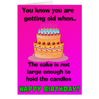 Funny Quote Birthday Card