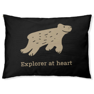 """Funny quote dog bed """"Explorer at heart"""""""