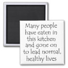 Funny quote fridge kitchen cooking magnets gifts