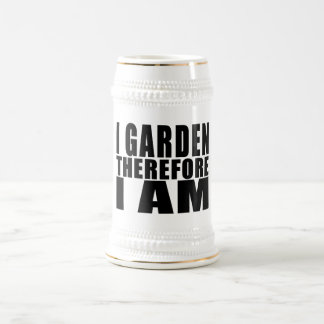 Funny Quote Gardening : I Garden Therefore I Am Coffee Mug
