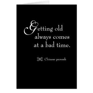 Funny quote Milestone Birthday Cards