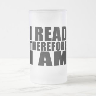 Funny Quote Reading I Read Therefore I Am Coffee Mugs
