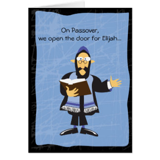FUNNY RABBI PASSOVER Greeting Card
