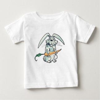 funny rabbit and carrot cartoon baby T-Shirt