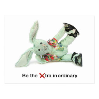 Funny Rabbit Birthday Card. Be eXtraordinary Postcard