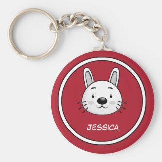 Funny Rabbit Gift Basic Round Button Key Ring