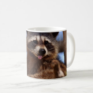 Funny Raccoon Sticking It's Tongue Out Coffee Mug