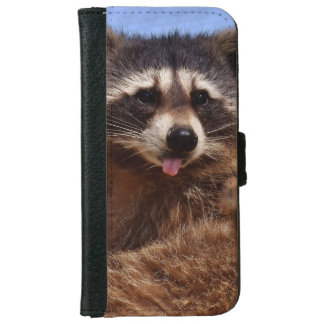 Funny Raccoon Sticking It's Tongue Out iPhone 6 Wallet Case
