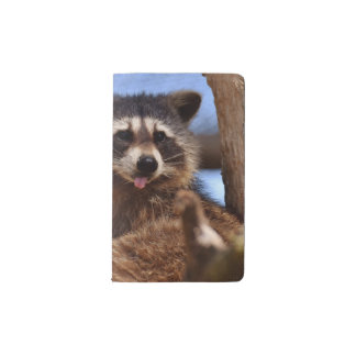 Funny Raccoon Sticking It's Tongue Out Pocket Moleskine Notebook
