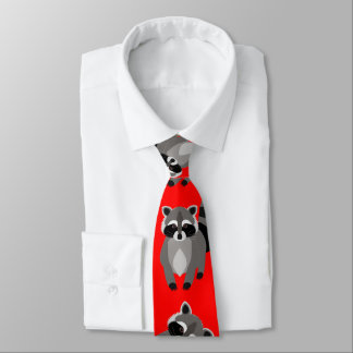 Funny Racoon Custom Colour Tie