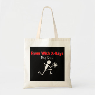 Funny Rad Tech Stickman Running Tote Bag
