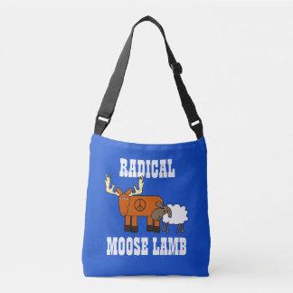"Funny ""Radical Moose Lamb"" Crossbody Bag"