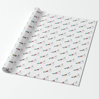 Funny Rainbow Unicorn Swimming Sperm Wrapping Paper