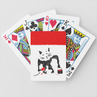 Funny Rat Playing With Red Paint Bicycle Playing Cards