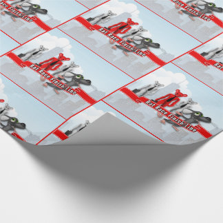 Funny Rat Race Finish Line Retirement Wrapping Paper