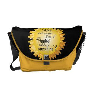 Funny Ray of Sunshine Rickshaw Messenger Bag