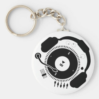 Funny_Record Basic Round Button Key Ring