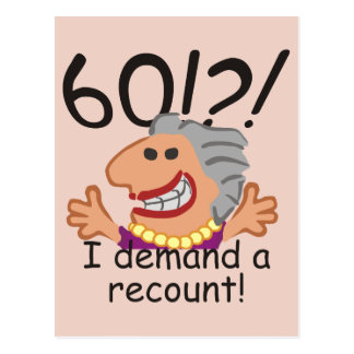 Funny Recount 60th Birthday Postcard
