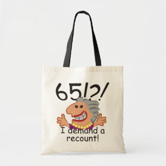Funny Recount 65th Birthday Tote Bag