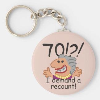 Funny Recount 70th Birthday Key Ring