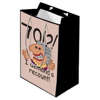 Funny Recount 70th Birthday Medium Gift Bag