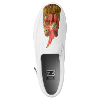 Funny Red Chicken Portrait Slip On Shoes