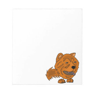 Funny Red Chow Chow Dog Art Notepads