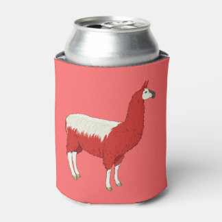 Funny Red Llama Can Cooler