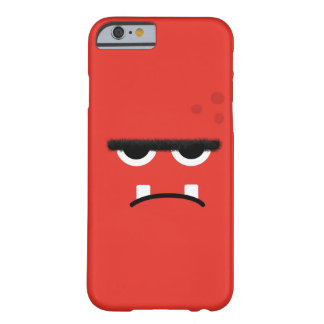 Funny Red Monster Face Barely There iPhone 6 Case