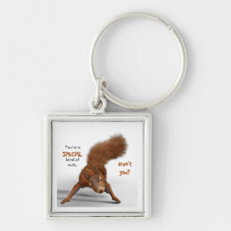 Funny Red Squirrel Photo | Special Kind of Nuts Key Ring