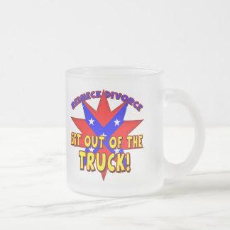 Funny Redneck Divorce T-shirts Gifts Frosted Glass Mug
