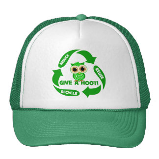 funny reduce reuse recycle trucker hat