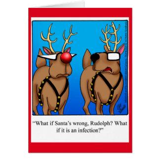 Funny Reindeer Humour Christmas Greeting Card