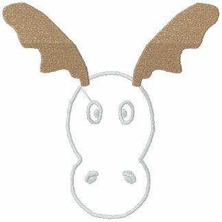 Funny Reindeer Women Embroidered Zip Hoodie