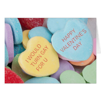 Funny Rejected Candy Hearts Valentine's Day Card