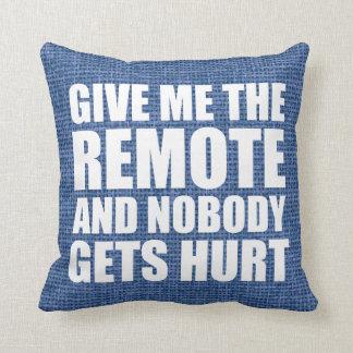 Funny Remote Control Quote Cushion