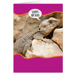 Funny Reptile Dysfunction Apology Card