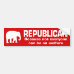 Funny Republican Welfare #4 Bumper Sticker
