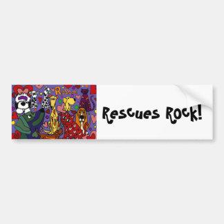 Funny Rescue Pets Love Abstract Art Bumper Sticker