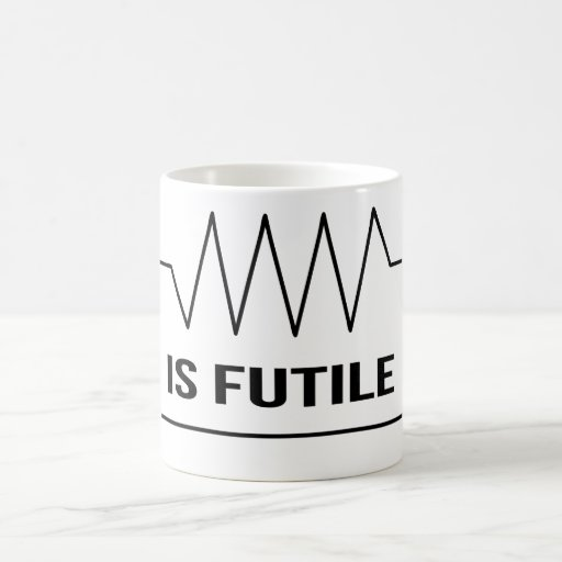 Funny 'Resistance is Futile' Electrical Humor Mug