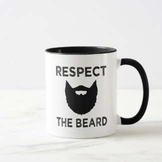 Funny Respect the beard men's coffee mug