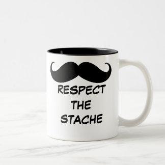 Funny Respect the Stache Mustache Mug