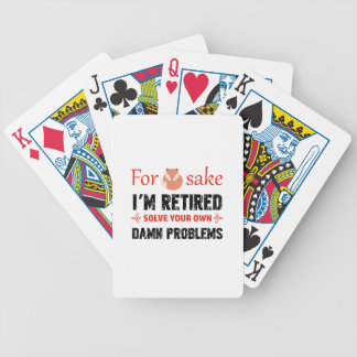 Funny Retired designs Bicycle Playing Cards
