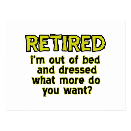 Funny retired designs postcards