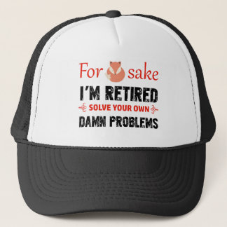 Funny Retired designs Trucker Hat
