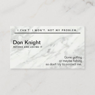 Retirement business cards zazzle au funny retired gag gift business card colourmoves